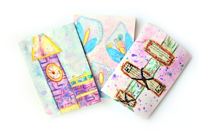 Set of 3 LaGrange Georgia inspired cute watercolor birthday cards